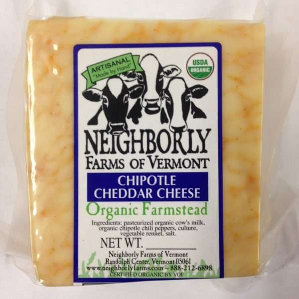 Organic Chipotle Cheddar Cheese
