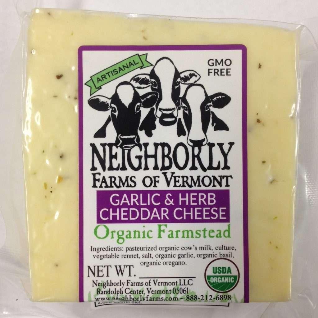 Organic Garlic & Herb Cheddar Cheese