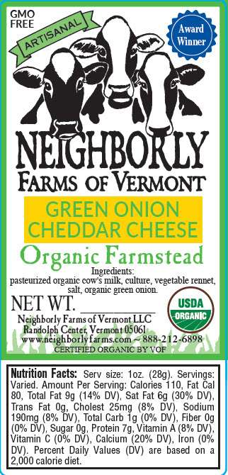 Organic Green Onion Cheddar Cheese
