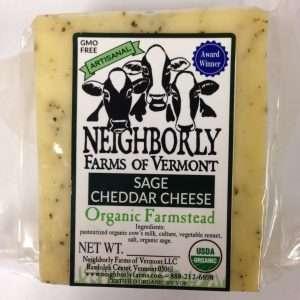 Organic Sage Cheddar Cheese