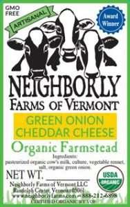 Organic Green Onion Cheddar Cheese