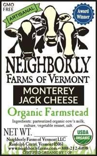 Organic Monterey Jack Cheese